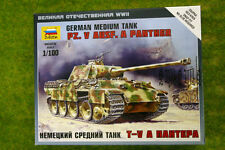 Zvezda Pz. V Ausf. A PANTHER GERMAN MEDIUM TANK 1/100 scale 6196