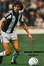 Football Photo BRYAN ROBSON West Bromwich Albion 1980-81