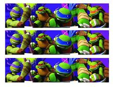 TMNT Teenage Mutant Ninja Turtles edible cake strips cake topper decorations