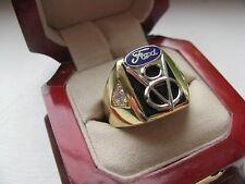 "Superb NEW Mens ""Ford V8"" CREST Gold Ring *"