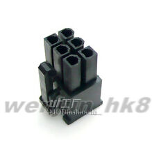 50PCS  5557 6Pin male for PC/computer PCI-E Power connector plastic shell Black