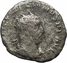 VALERIAN I 255AD Silver  Ancient  Roman Coin Sol with whip Sun God Cult i46412