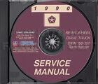1990 Dodge Pickup Truck Shop Manual CD D150-D350 Ramcharger W150-W350 Service