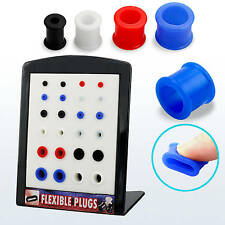 Display stand with assorted size and color silicon flexible flesh tunnel plugs