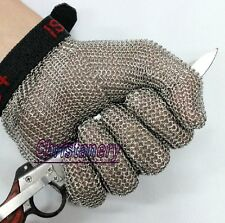 Quality Stainless Steel Metal Mesh Butcher Cut Proof Protect Resistant Glove NEW