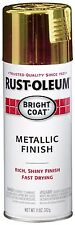New Rust-Oleum 7710830 Bright Coat Metallic Color Spray, Gold, 11-Ounce