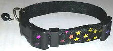 STARS COLLAR Cat Dog Small Pet Cute Puppy Kitten Bell Lap Mini Sparkly Tiny New