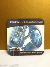 Guinness Irish beer Cork Jazz Festival 2003 square beer coaster stained S5
