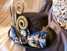 OOAK Doctor Who Van Gogh TARDIS Whovian Steampunk Top Hat - LIGHTS UP!