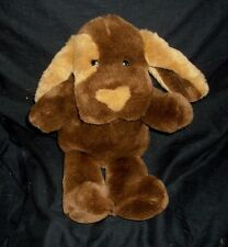 "15"" VINTAGE 1995 FORDLET BABY PUPPY DOG BROWN & TAN STUFFED ANIMAL PLUSH TOY"
