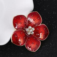 2016 New Red Enamel Flower Poppy Brooch Pins For Women Banquet Remembrance Gifts