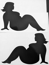 NEW BLACK FAT TRUCKER GIRLS MUDFLAP BBW DECAL STICKER FORD CHEVY DODGE HONDA VW