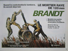 1/1984 PUB THOMSON BRANDT ARMEMENTS MORTIER 120 MM RIFLED MORTAR FRENCH AD