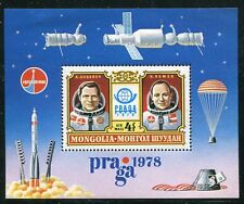 MONGOLIA 1978 SPACE ASTRONAUTS SHEET MINT COMPLETE!