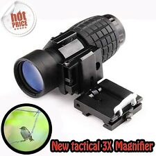 NEW Tactical 3X Magnifier FTS Flip To Side For Eotech Aimopint Similar Scopes S