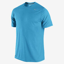Nike Legend Poly SS Dri-Fit Men's Running Training Blue T-Shirt Size S