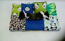 PANDA QUILT BEDDING SET FOR BARBIE, MONSTER HIGH, OR BRATZ DOLLS