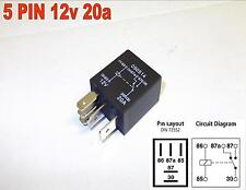 MICRO RELAY 5 BROCHES 12v 20amp AUTO COMMUTATEUR Relay AUTO MOTO ( Y9 )