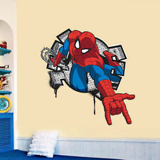 Large Spider-man 3D Effect room decor Wall sticker boys kids Nursery Mural decal
