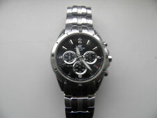 USED CASIO EDIFICE EF-544D-1AVDF(5119) MENS DIVERS CHRONOGRAPH CHROME/BLACK