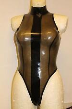 Rubber Latex  Damen Stringbody Badeanzug Mit Stehkragen Gr.XS-XXL