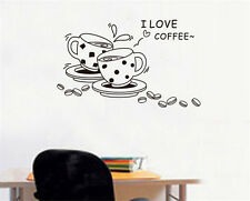 Coffee cup Home Decor Removable Wall Sticker/Decal/Decoration