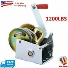Heavy Duty 1 ton (1200 lbs) Boat Winch Manual Hand Crank for RV Trailer ATV NEW#