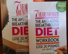 7 Years Younger the Anti-Aging Breakthrough Diet & Workbook 2 pack new