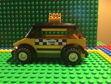 Custom Lego taxi cab w/ checkered decals...Modular / City / Train / set 7937