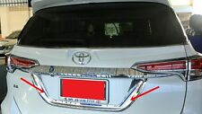TOYOTA NEW FORTUNER 2016 CHROME REAR MID SPOILER INSTALL WITH TAPE 3M