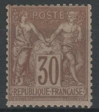 "FRANCE STAMP TIMBRE N° 69 "" TYPE SAGE 30c BRUN CLAIR 1876 "" NEUF xx TB  K874"