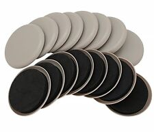 """Smart Surface 8295 3-1/2"""" Round Carpet Furniture Sliders 16-Pack in Resealable"""