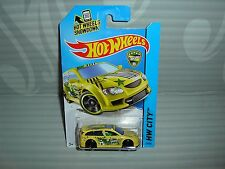 2014 HOT WHEELS ''HW CITY'' #19 = AUDACIOUS = YELLOW   int.  ''TUNER''