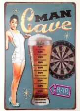 RETRO METAL WALL SIGN TIN PLAQUE VINTAGE FUNNY KITCHEN BEER GIFT BAR PUB LOUNGE
