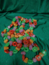 VINTAGE LIFE SAVER/GUMDROP BLOW MOLD GARLAND 93 INCHES LONG FREE SHIPPING
