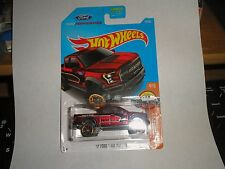 HOT WHEELS 2017 HW HOT TRUCKS #4/10 '17 FORD F-150 RAPTOR RED