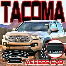 2016-2017 TACOMA ACCESS EXTENDED CAB WINDOW RAIN DEFLECTOR SUN VISORS with LOGO