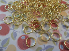 Gold Round 18 gauge Jump Rings 8mm - Qty 118 Pieces