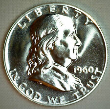 1960 Franklin Silver Proof Half Dollar Coin Fifty Cent MADE IN AMERICA COIN