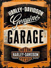 Harley Davidson Garage large embossed metal sign 400mm x 300mm    (na)