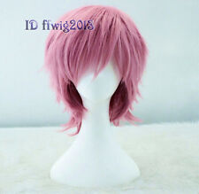 Adventure Time Prince Gumball Short pink Anime Cosplay Wig +free wig cap