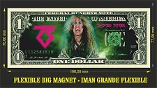 TWISTED SISTER IMAN BILLETE 1 DOLLAR BILL MAGNET