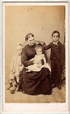 Victorian CDV - Mother and Children - Jas. Clark - Tetbury