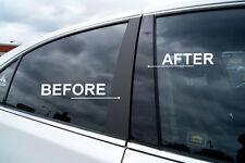 Fits Mercedes Benz C 01-07 Black B-Pillars Glossy Piano Window Post Trim SS R41