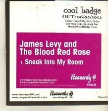 (CP496) James Levy and The Blood Red Rose, Sneak Into My Room - 2012 DJ CD