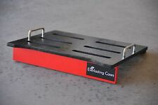 PEDALBOARD - Black and Red -for Guitar Effects BY EVERLASTING CASES
