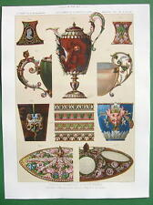 GOLDSMITH Gems Jewelry in Louvre Paris - SCARCE Color Litho Print