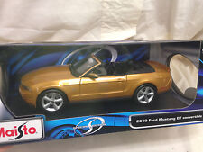 Maisto 2010 Ford Mustang GT Conv. Diecast Collectible Car Scale 1:18 {3.48}