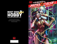 Justice League vs Suicide Squad 1 Dawn McTeigue Color Variant Harley Quinn Jail