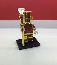 Lego mr gold custom machine chromé édition limitée! fits lego